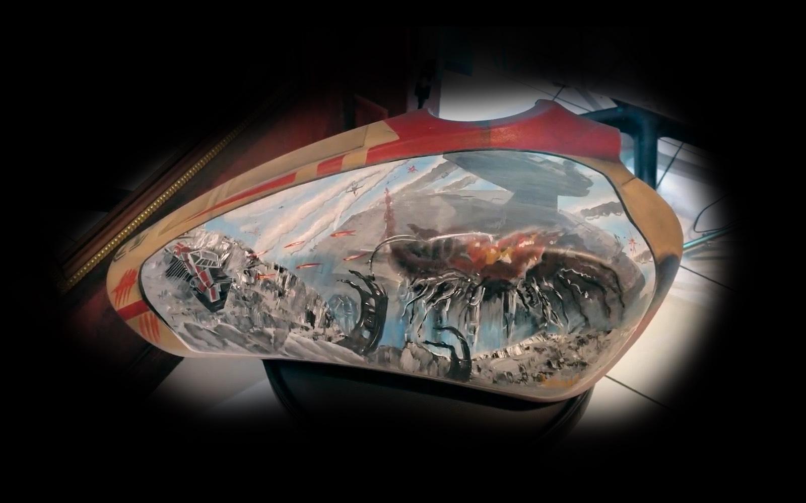 Star Wars Indian Motorcycle tank art by  Adam Natonio