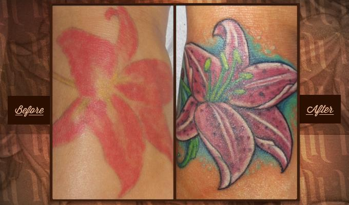 Tattoo touch ups and refurbishments hart and huntington for Never fade tattoo